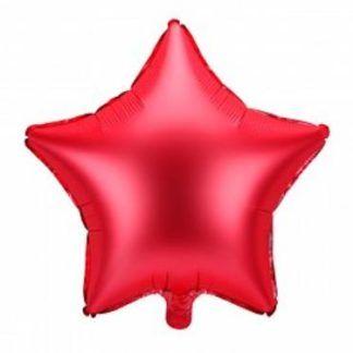 Czerwony balon foliowy w kształcie gwiazdki