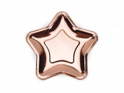 Różowe złoto talerzyk w kształcie gwiazdki