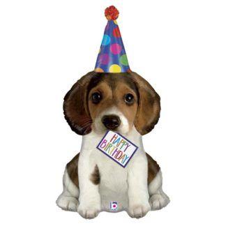 Balon foliowy w kształcie urodzinowego pieska