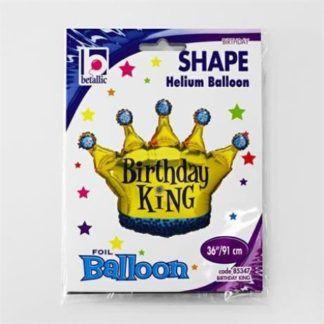 Balon foliowy w kształcie korony dla urodzinowego króla