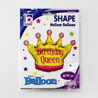 Balon foliowy w kształcie korony dla urodzinowej królowej