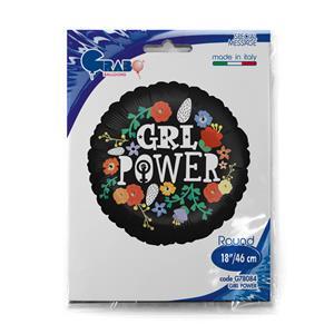 """Balon foliowy z napisem """"girl power"""""""