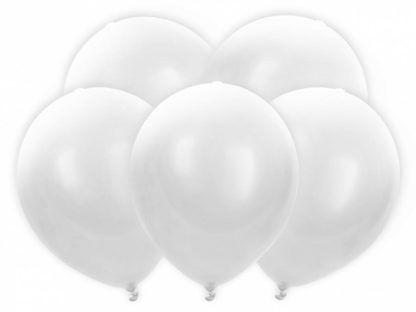 Białe balony lateksowe z światełkiem ledowym