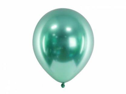 Zielony balon lateksowy