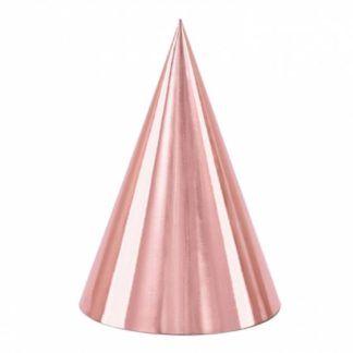 Różowe złoto czapeczka papierowa