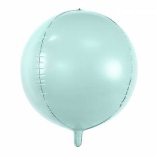 Miętowy balon foliowy w kształcie kuli
