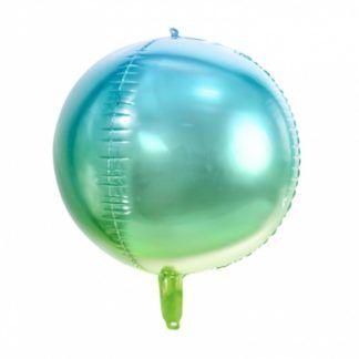 Zielony balon foliowy w kształcie kuli