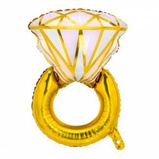Balon foliowy w kształcie pierścionka zaręczynowego