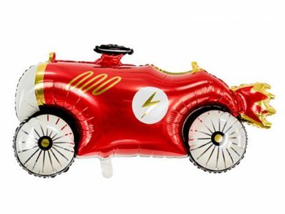 Balon foliowy w kształcie czerwonego samochodu