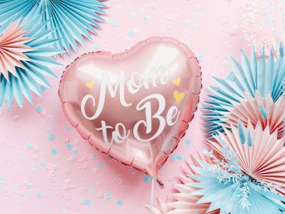 Balon foliowy w kształcie serca dla przyszłej mamy