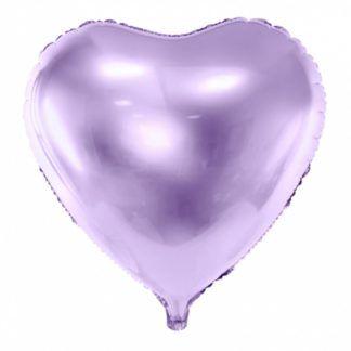 Fioletowy balon w kształcie serca