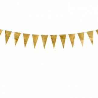 Złota girlanda z flagietkami