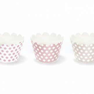 Różowe papilotki do muffinek