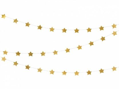 Złota girlanda z gwiazdkami