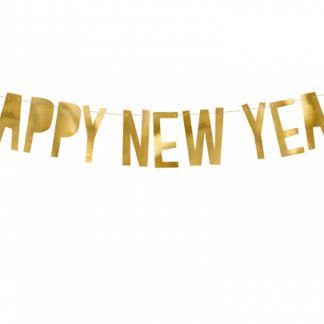 Złoty baner na nowy rok