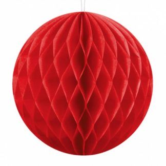 Czerwona kula z bibuły