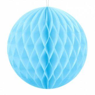 Błękitna kula z bibuły
