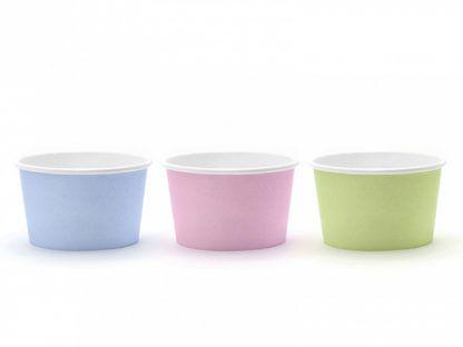 Kolorowe kubeczki do lodów