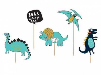 Toppery na tort z motywem dinozaurów