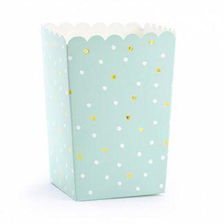 Miętowe pudełeczko na popcorn