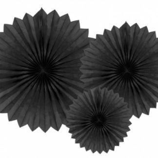 Czarne rozety dekoracyjne