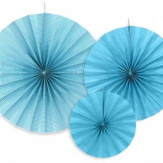 Niebieskie rozety dekoracyjne