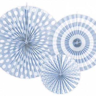 Jasno niebieskie rozety dekoracyjne