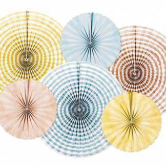 Rozety dekoracyjne w letnich kolorach