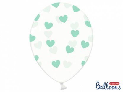 Balon lateksowy z miętowymi serduszkami