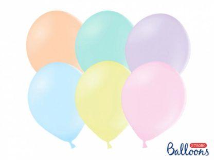 Zestaw pastelowych balonów lateksowych