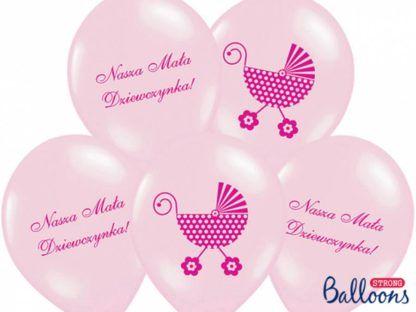 """Zestaw balonów lateksowych """"nasza mała dziewczynka"""""""