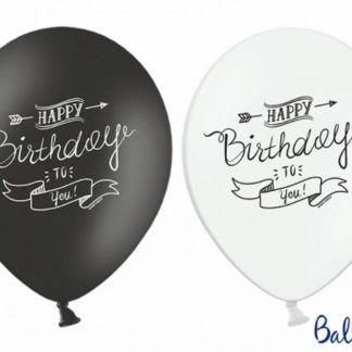 Czarny i biały balon lateksowy na urodziny
