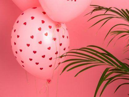 Różowe balony lateksowe