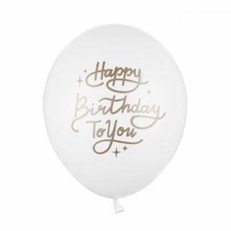 Biały balon lateksowy na urodziny