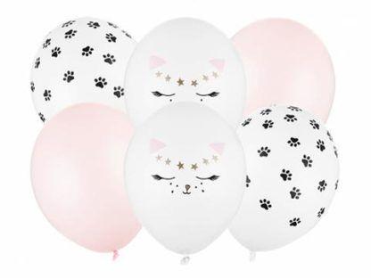 Zestaw balonów lateksowych z motywem kotka