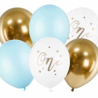 Zestaw kolorowych balonów na urodziny