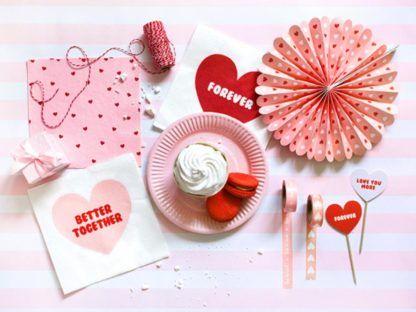Różowa dekoracja na walentynki