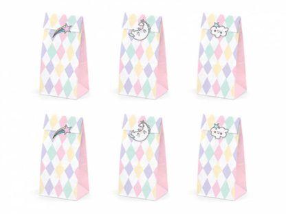 Torebki papierowe w kolorowe wzorki