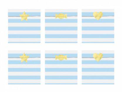 Torebki na słodycze w białe i niebieskie paski