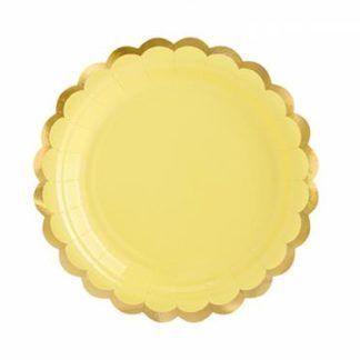 Żółty talerzyk papierowy