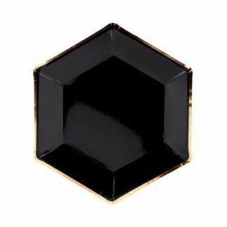 Czarny talerzyk papierowy