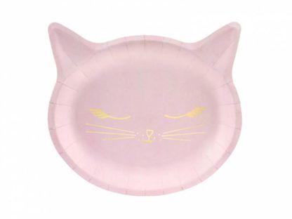 Talerzyk w kształcie różowego kotka