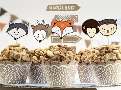 Babeczki z leśnym zestawem do muffinek