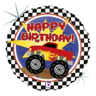 Balon foliowy na urodziny z monster trackiem
