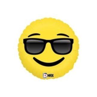 Balon foliowy w kształcie emotikonki z okularami przeciwsłonecznymi