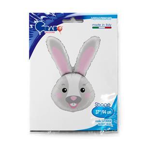 Balon foliowy w kształcie głowy królika