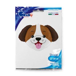 Balon foliowy w kształcie głowy szczeniaka
