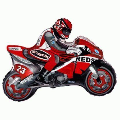 Balon foliowy w kształcie motocyklisty na motorze