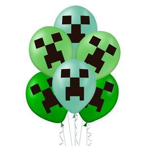 Balony lateksowe z motywem Minecraft