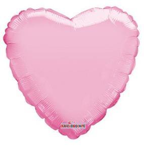 Pudrowy róż balon foliowy w kształcie serca